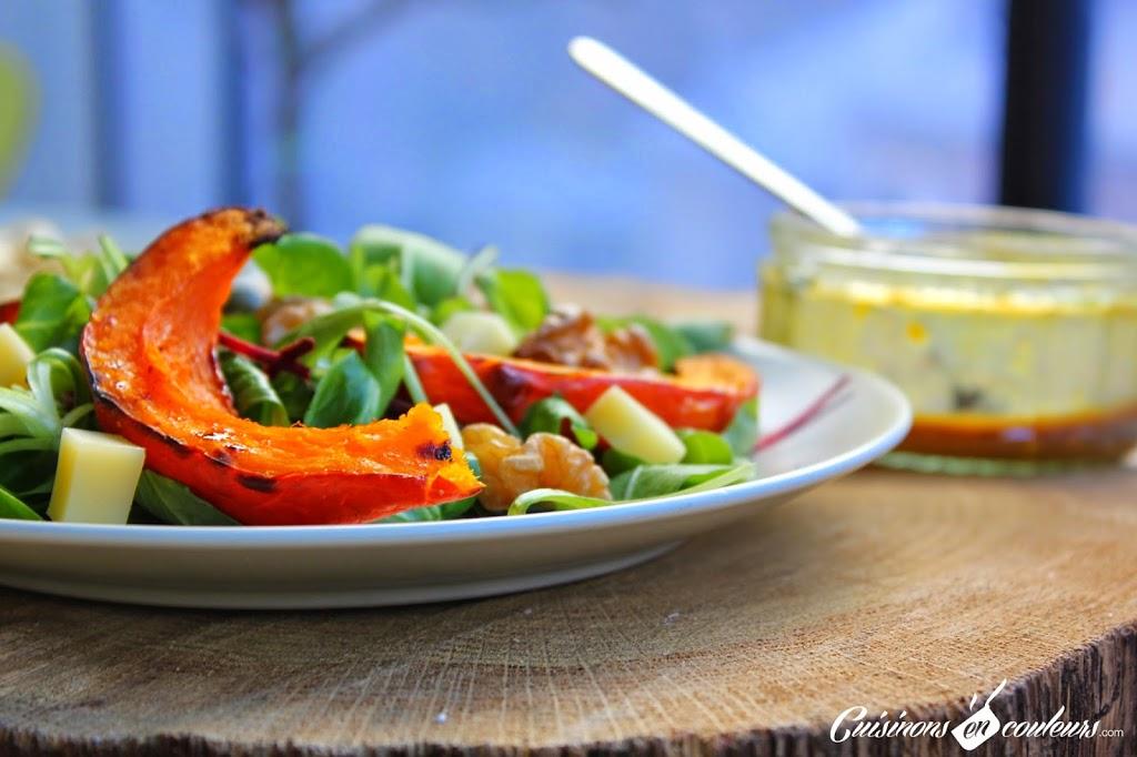potiron-2Broti - Salade de potiron rôti, betterave, comté et noix