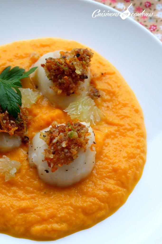 Saint-Jacques-agrumes-et-carottes-682x1024 - Noix de Saint-Jacques aux agrumes et émulsion de carottes