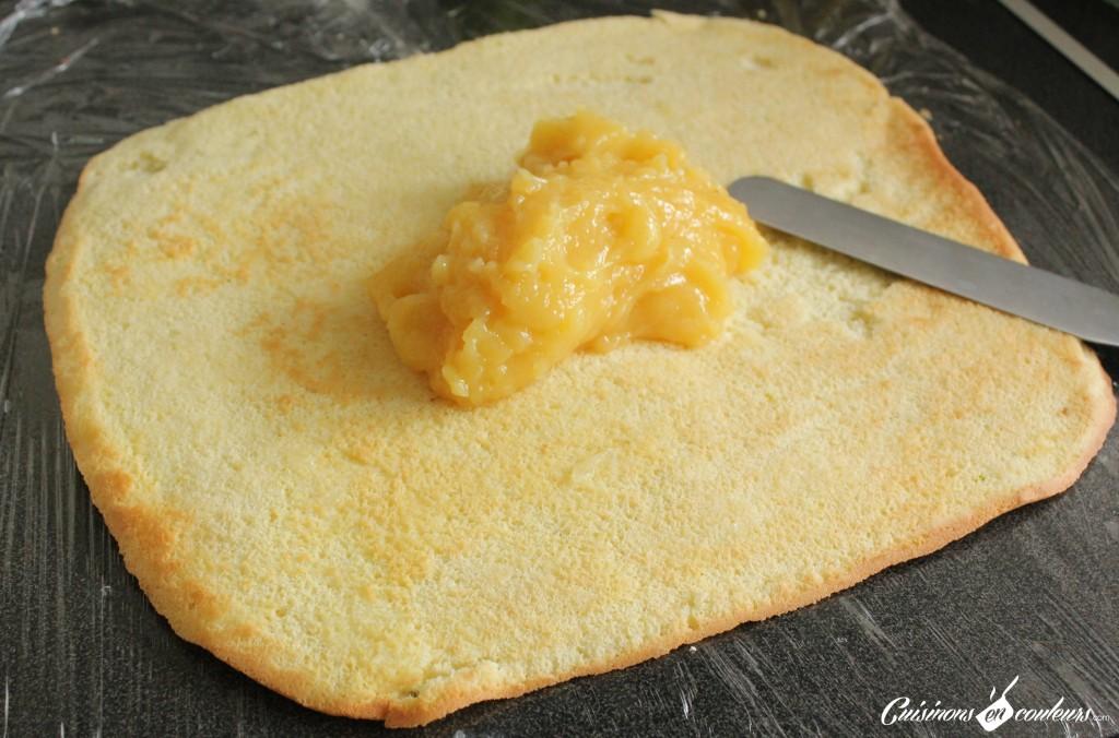buche-citron-roulage-1024x676 - Bûche au lemon curd (Recette pas à pas)
