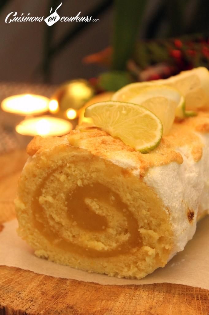 buche-faite-maison-682x1024 - Bûche au lemon curd (Recette pas à pas)