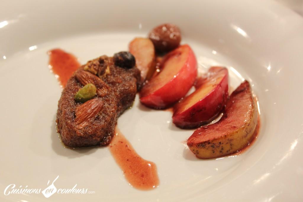 foie-gras-pane-1024x682 - Epices et fruits de Noël autour du foie gras et le compte-rendu de l'atelier avec Luc Danjou