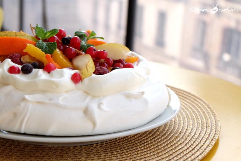 pavlova-aux-fruits-1024x682 - Pavlova aux fruits pour utiliser les restes de blancs d'oeufs !