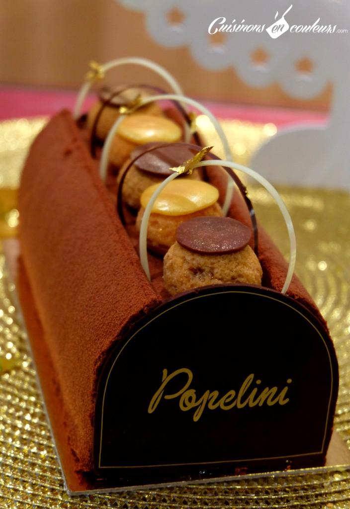 popelini-canderel-buche-704x1024 - Popelini et Canderel imaginent une bûche gourmande et allégée