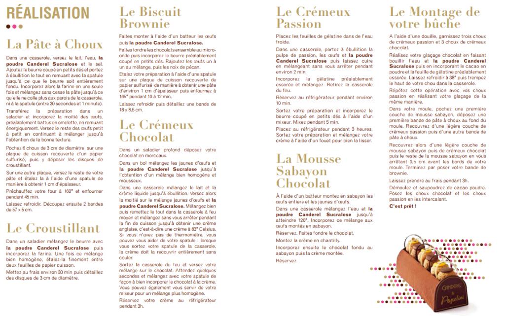 recette-buche-popelinie-chocolat-et-passion-1024x649 - Popelini et Canderel imaginent une bûche gourmande et allégée