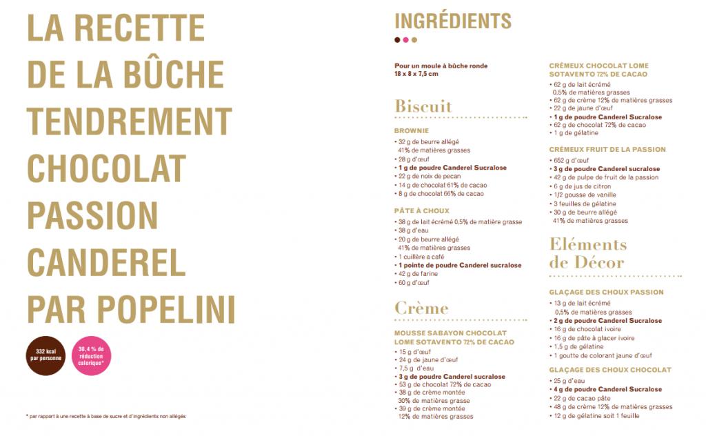 recette-buche-popelinie-chocolat-passion-1024x632 - Popelini et Canderel imaginent une bûche gourmande et allégée