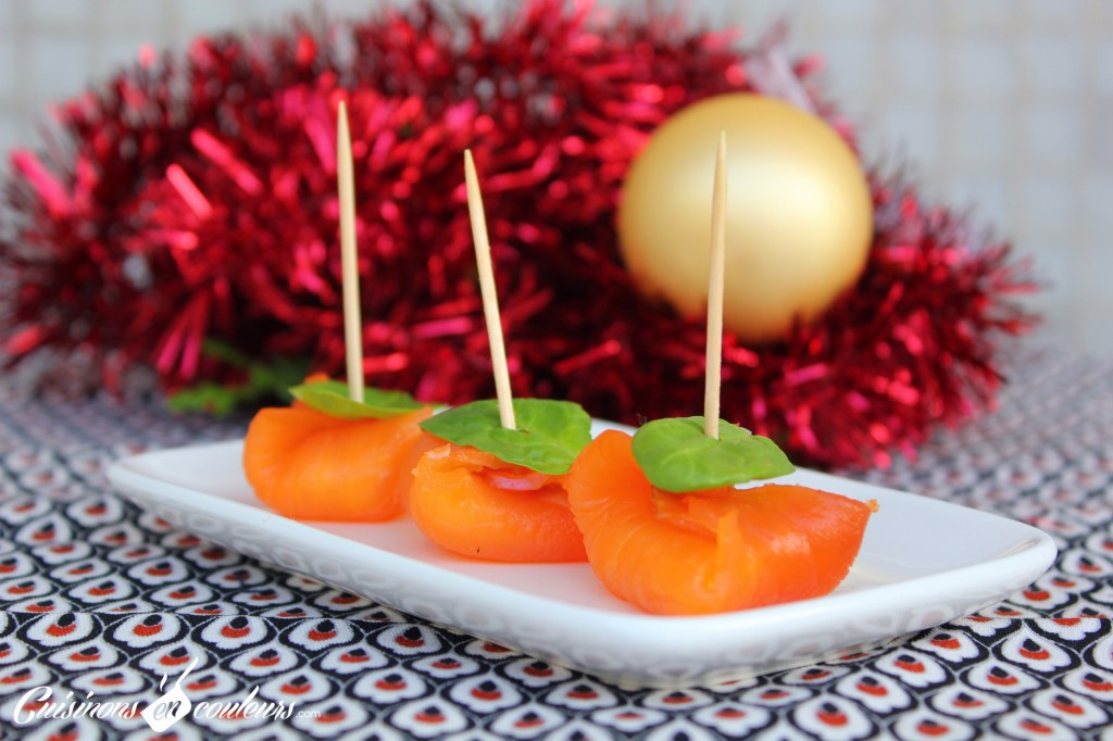 saumon-mangue-bouchee-1024x682 - Bouchées au saumon fumé, fromage frais et à la mangue