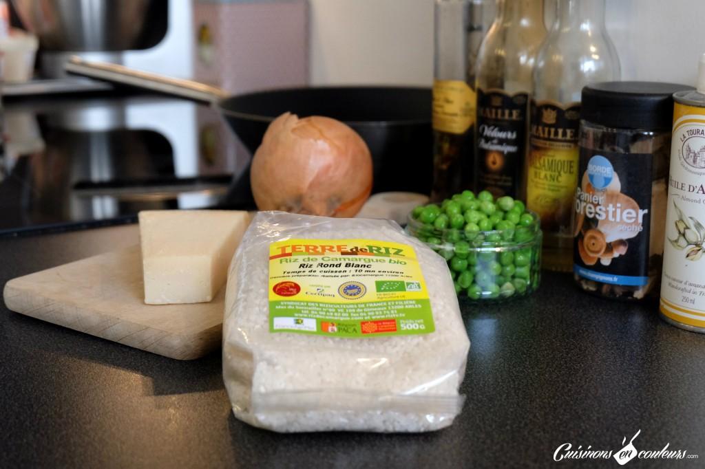 riz-de-camargue-1024x682 - Risotto express aux petits pois et aux champignons
