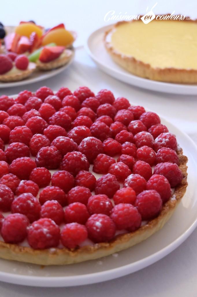Tarte-aux-framboises-et-au-chocolat-blanc-682x1024 - Tarte au chocolat blanc et aux framboises