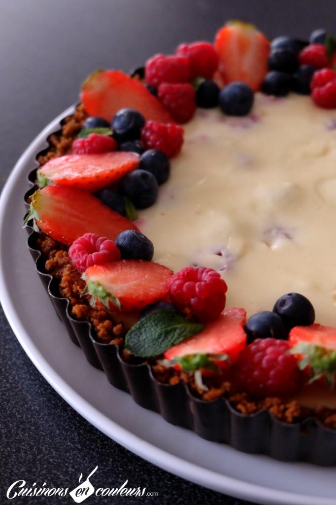 Cheesecake-aux-fruits-rouges-682x1024 - Tarte façon cheesecake aux fruits rouges