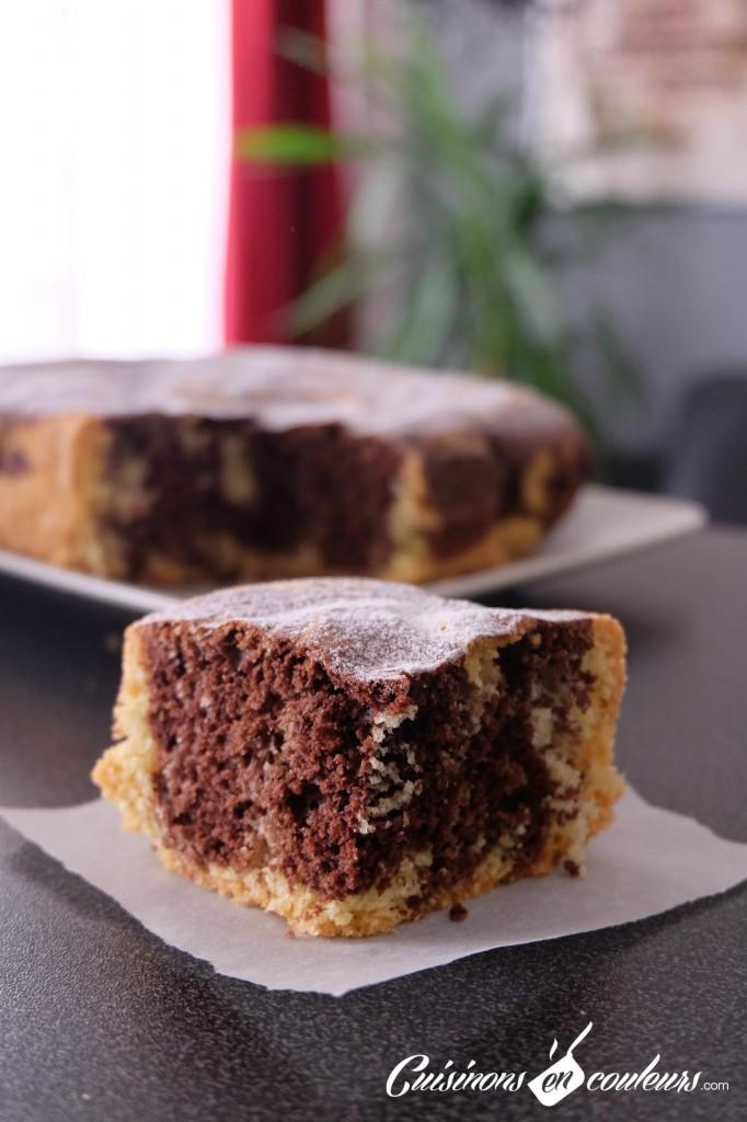 Gâteau-romantique-Etape-5-682x1024 - Le gâteau Romantique : un gâteau marbré au chocolat