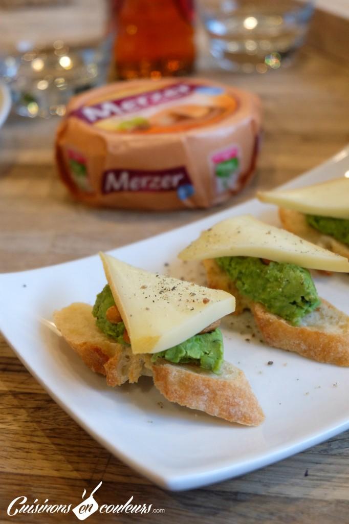 Toasts-écrasé-de-petit-pois-et-merzer-682x1024 - Des idées de recettes à base de Merzer, ça vous dit ?