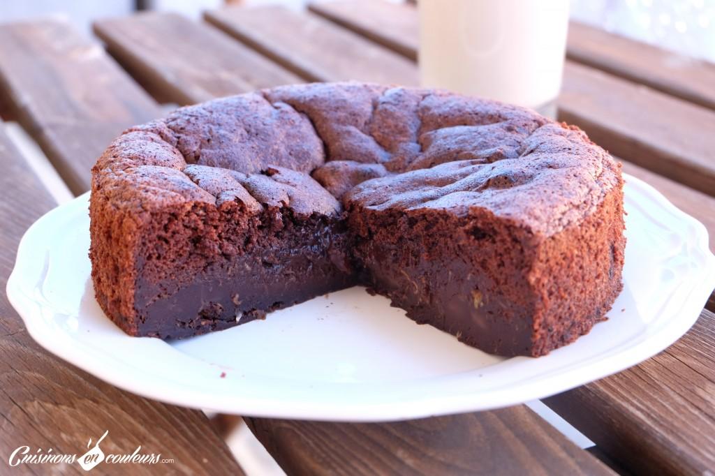 Gateau-au-chocolat-sans-beurre-1024x682 - Gâteau au chocolat à tomber sans beurre et sans sucre !
