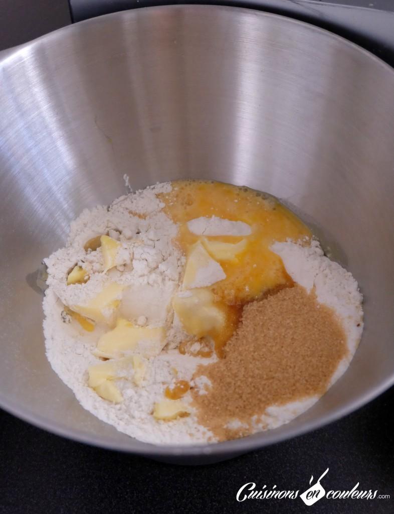 Préparation-de-la-pate-à-brioche-786x1024 - Brioche roulée aux raisins secs
