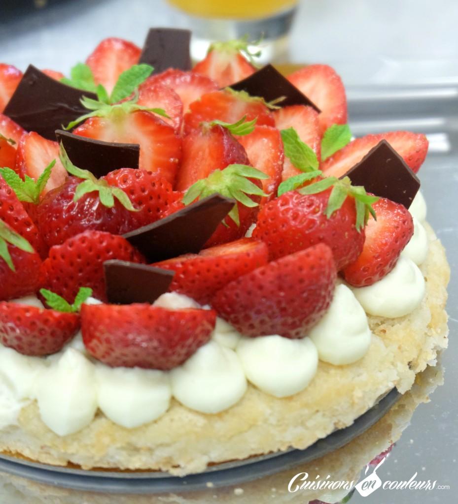 fraisier-929x1024 - A la découverte des desserts du 16 Haussmann