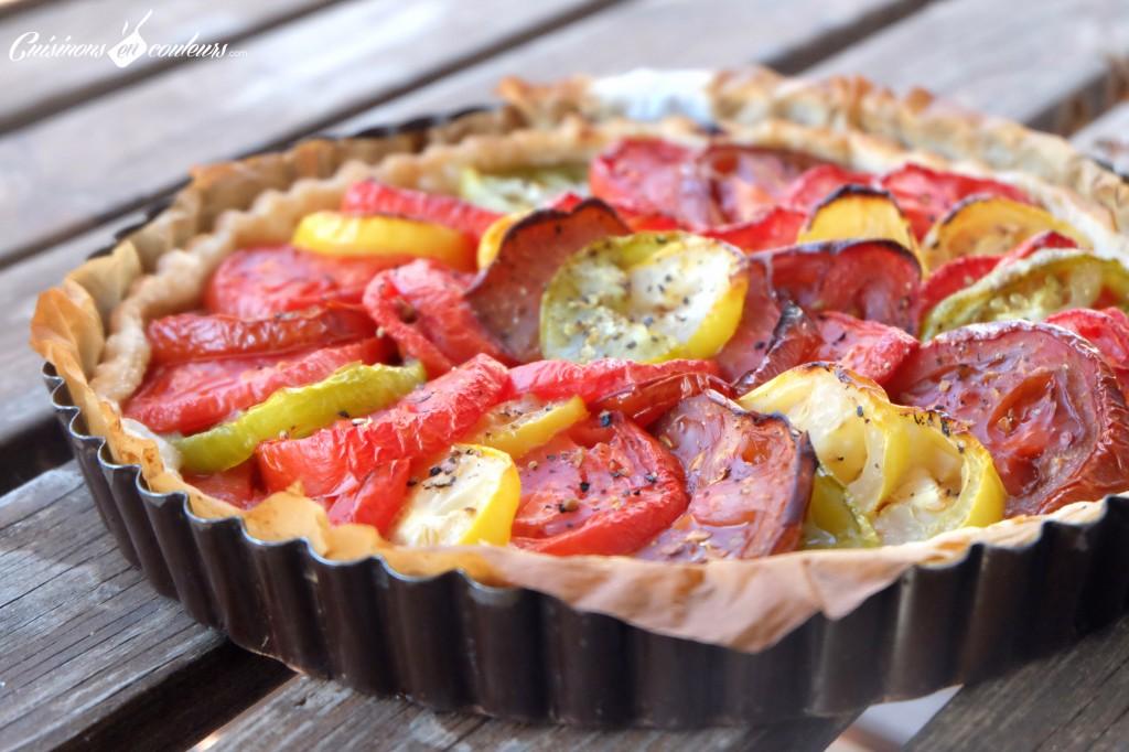 Tomato-tart-1024x682 - Tarte aux tomates anciennes et au thon