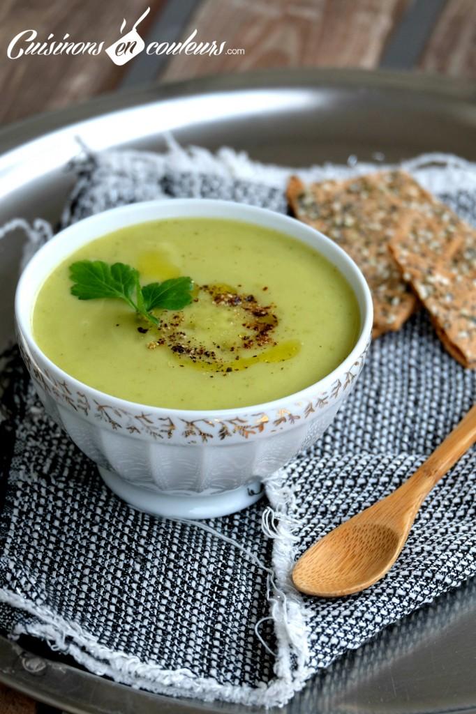 Soupe-de-courgettes-682x1024 - Velouté de courgettes à la boisson végétale à la noix de coco