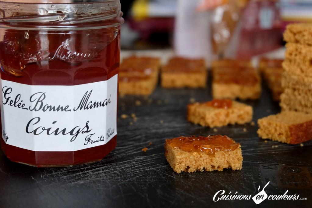 bouchees-foie-gras-1024x682 - Bouchées au foie gras Monfort, au pain d'épices et à la gelée de coings