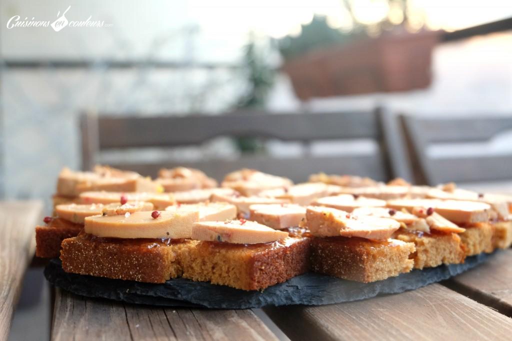 foie-gras-et-coings-1024x682 - Bouchées au foie gras Monfort, au pain d'épices et à la gelée de coings