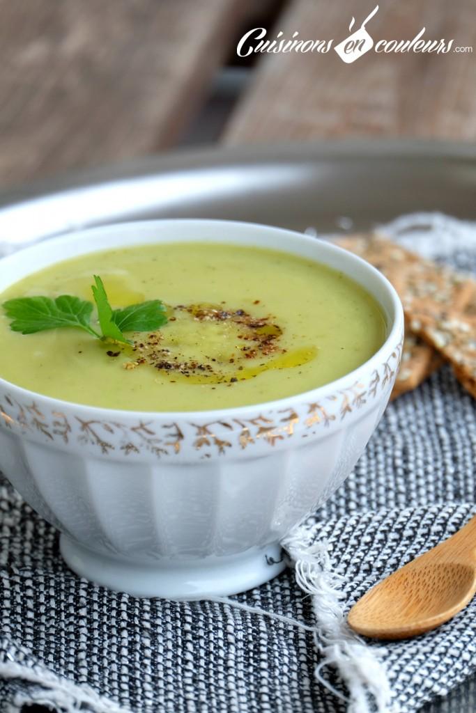 soupe-coco-courgettes-683x1024 - Velouté de courgettes à la boisson végétale à la noix de coco
