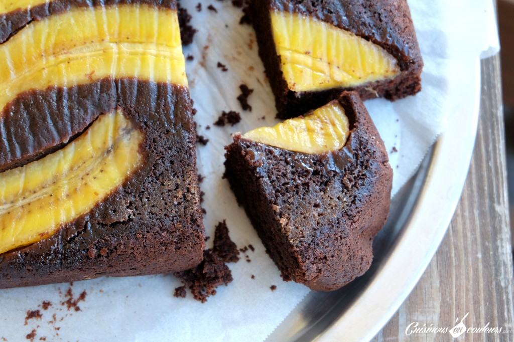 uspide-down-chocolate-cake-1024x682 - Banana Upside-Down cake