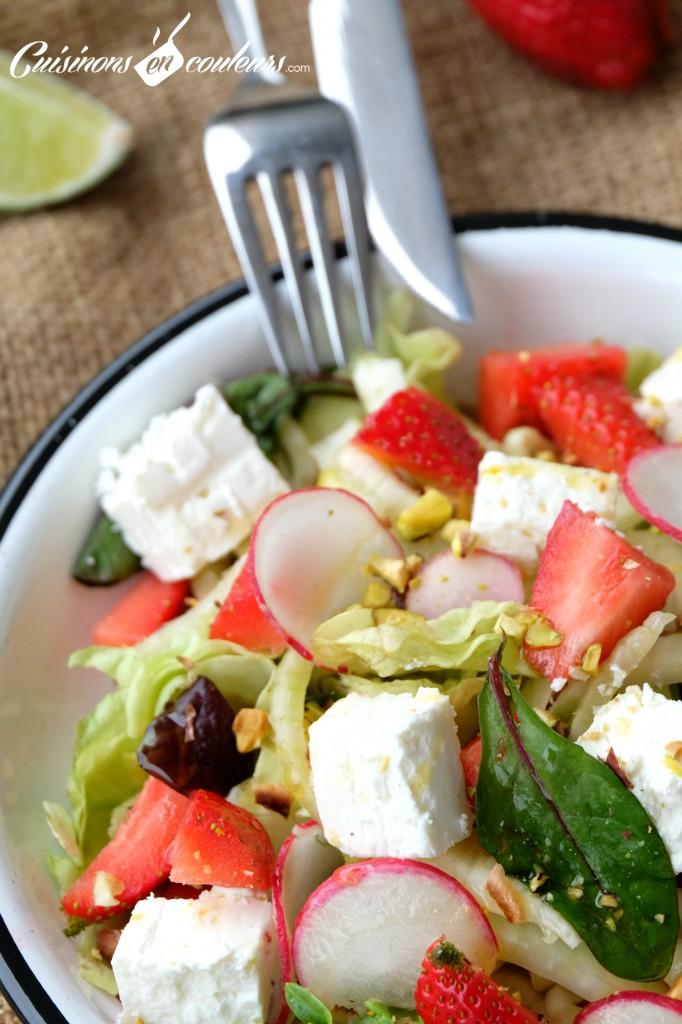 Fenouil-et-fraises-feta-682x1024 - Salade de fenouil aux fraises et pistaches