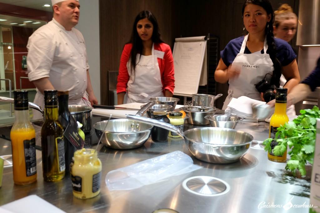 Atelier-ferrandi-1024x682 - Un cours de cuisine à l'école Ferrandi autour des produits Maille à gagner sur le blog !