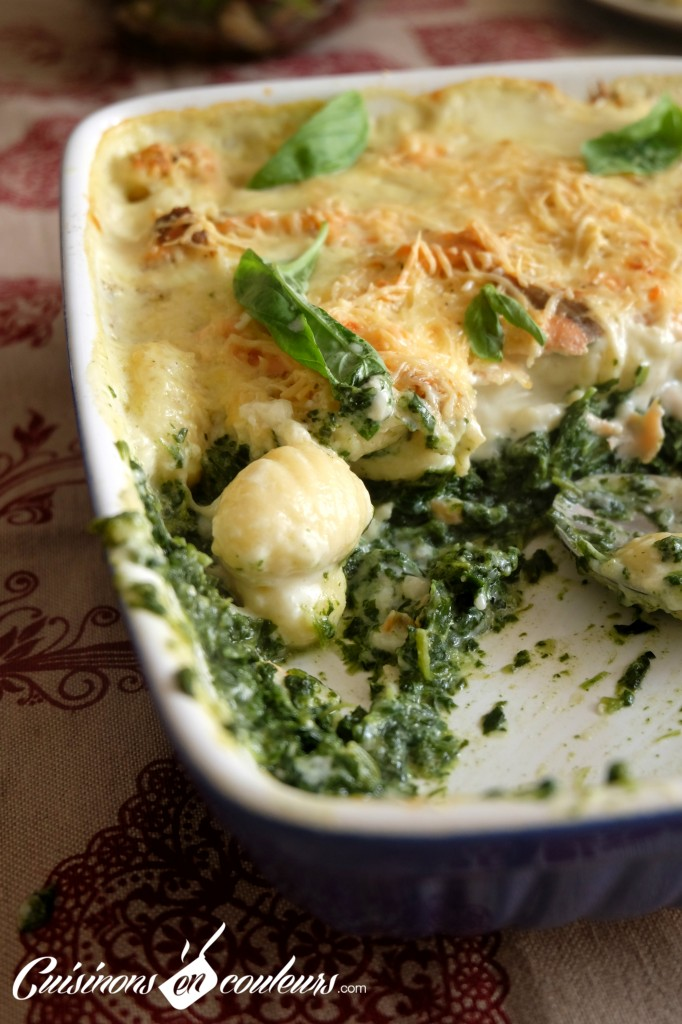 Cuisinons-En-Couleurs-Gnocchis-682x1024 - Gratin de gnocchis au saumon fumé et aux épinards