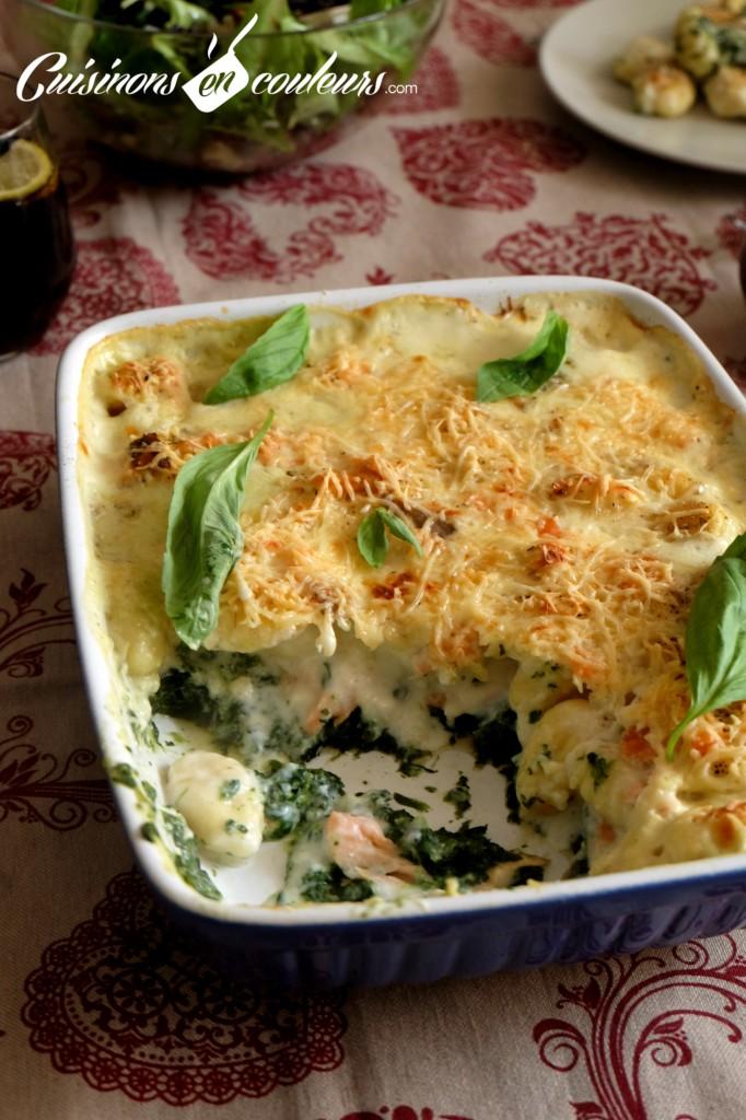 Gnocchis-aux-epinards-682x1024 - Gratin de gnocchis au saumon fumé et aux épinards