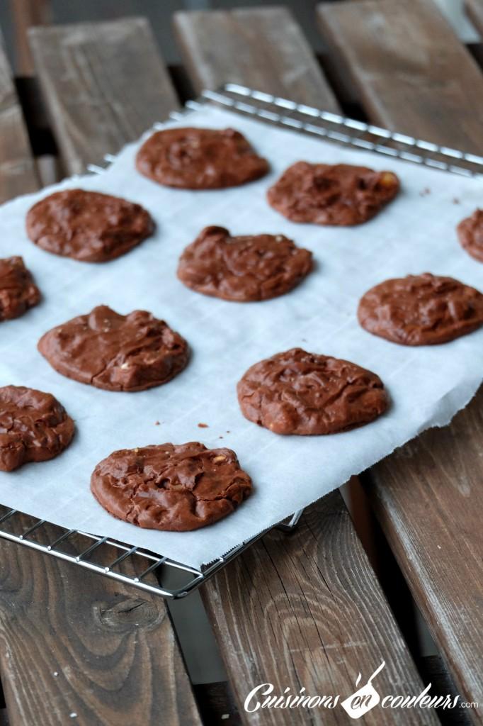 Cookies-au-chocolat-apres-cuisson-682x1024 - Brownie cookies aux pépites de chocolat et aux noisettes