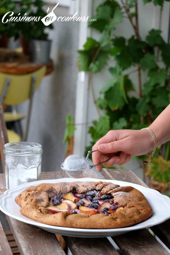 tarte-rustique-myrtilles-682x1024 - Tarte rustique aux nectarines et aux myrtilles