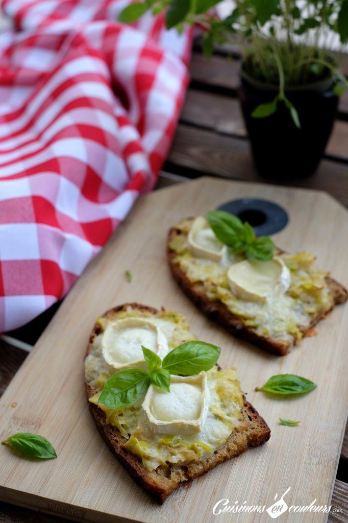 Tartines-aux-poireaux-682x1024 - Tartines aux poireaux et au fromage de chèvre