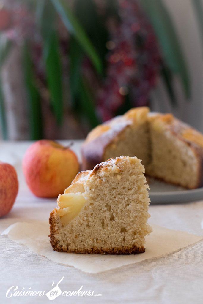 Delicieux-gateau-pommes-683x1024 - Gateau aux pommes et à la vanille