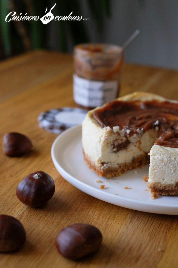 Cheesecake-de-noel-683x1024 - Cheesecake à la confiture de chataignes