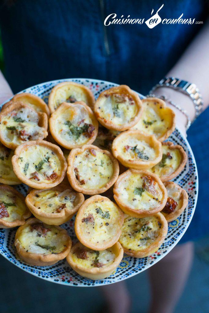 Minis-quiches-aux-tomates-sechees-et-a-la-mozzarella-6-683x1024 - Plus de 35 idées salées pour Ramadan