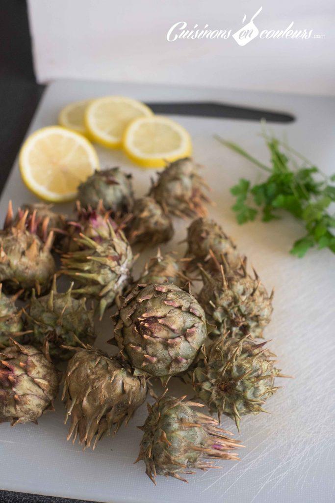 Tajine-artichauts-et-petits-pois-683x1024 - Tajine de veau aux artichauts sauvages et aux petits pois