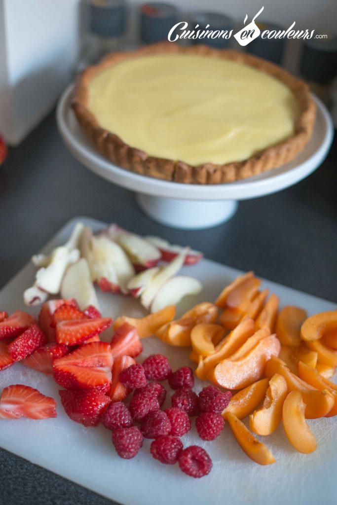 Tarte-aux-fruits-frais-683x1024 - Tarte aux fruits et à la crème pâtissière à la vanille