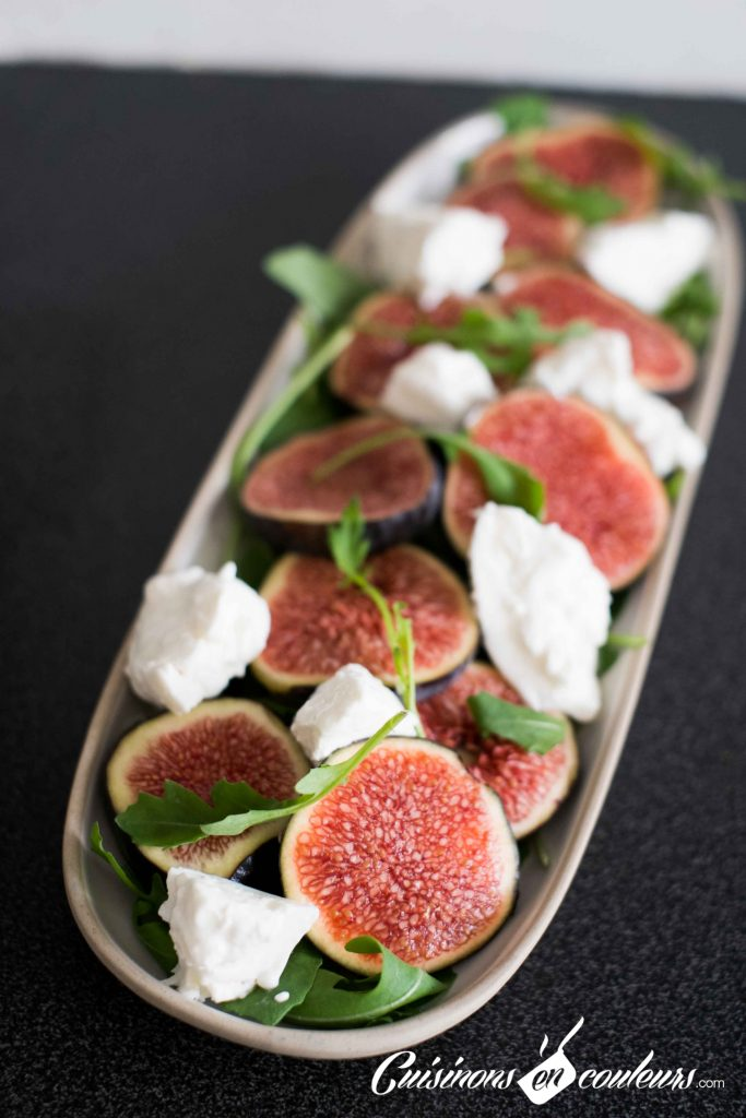 Salade-figues-et-burrata-2-683x1024 - Salade de figues, burrata et roquette