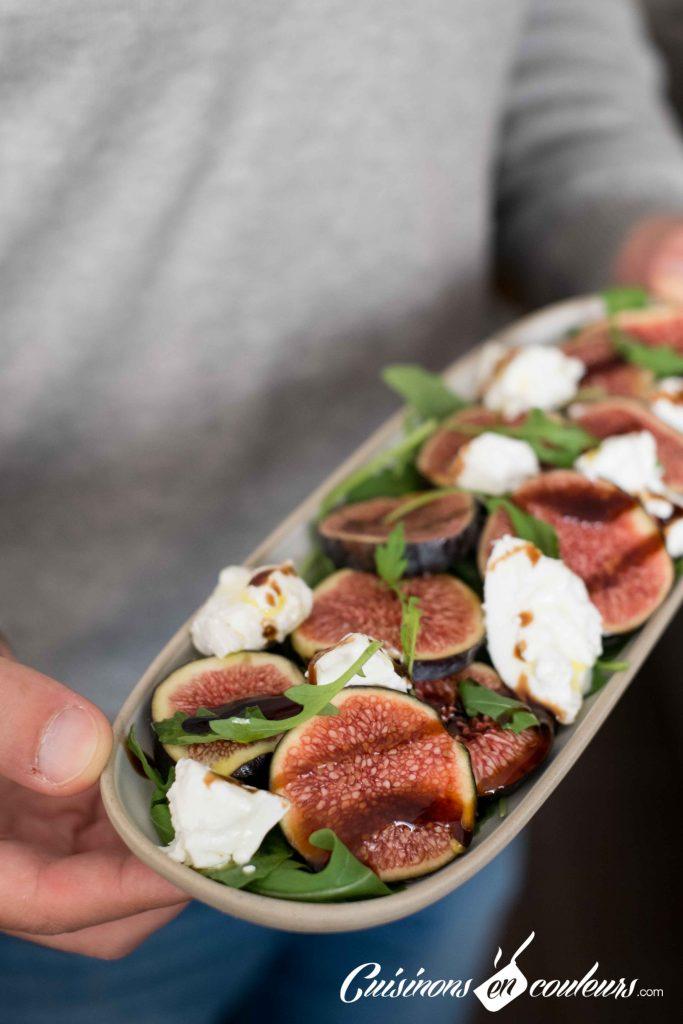 Salade-figues-et-burrata-4-683x1024 - Salade de figues, burrata et roquette