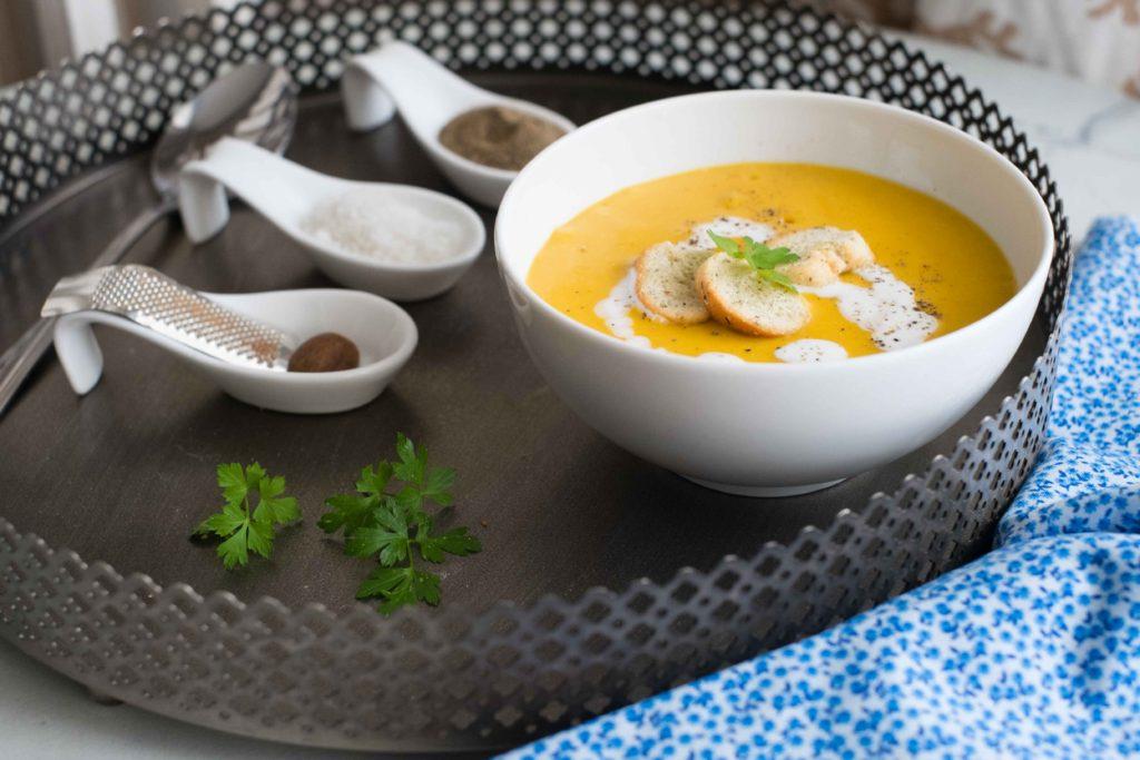 6-Veloute-1024x683 - Velouté de carottes et lentilles corail à la noix de coco