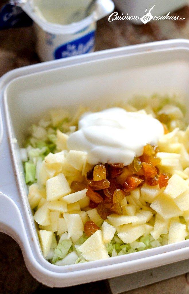 Salade-de-chou-aux-pommes-659x1024 - Salade de chou blanc à la pomme et aux raisins secs