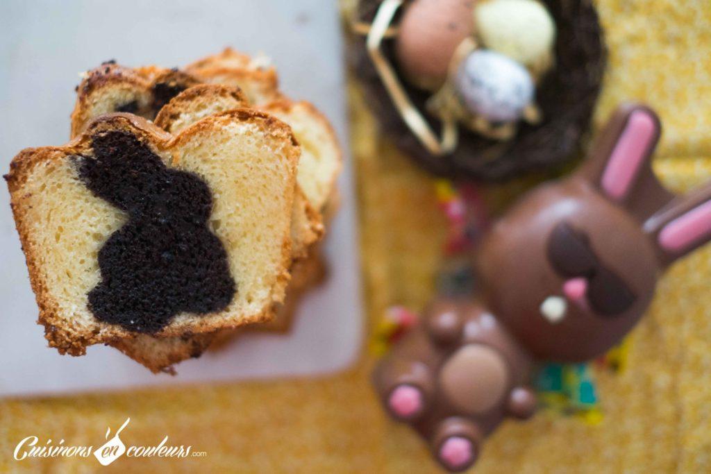 Cake-surprise-paques-14-1024x683 - Cake Vanille Chocolat surprise pour Pâques
