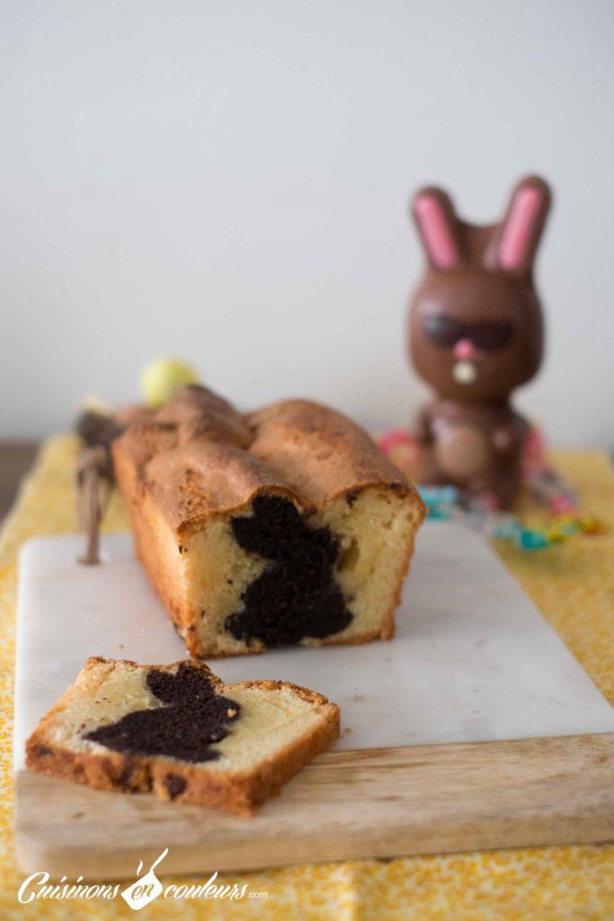 Cake-surprise-paques-18-683x1024 - Cake Vanille Chocolat surprise pour Pâques