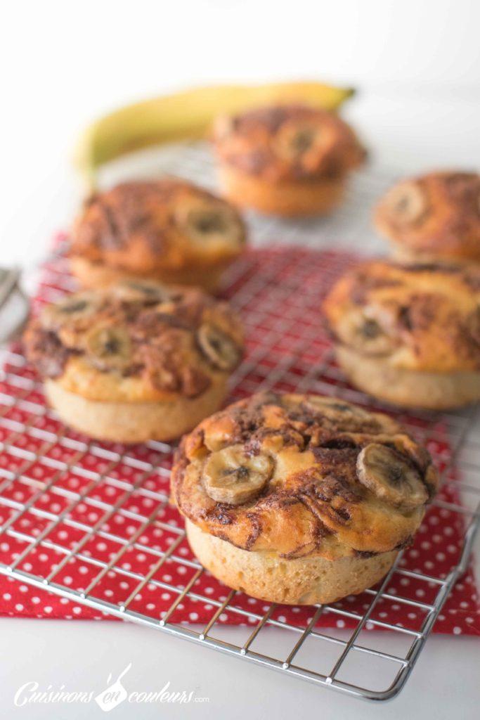 Muffins-choco-bananes-11-683x1024 - Muffins à la banane et à la pâte à tartiner noisettes