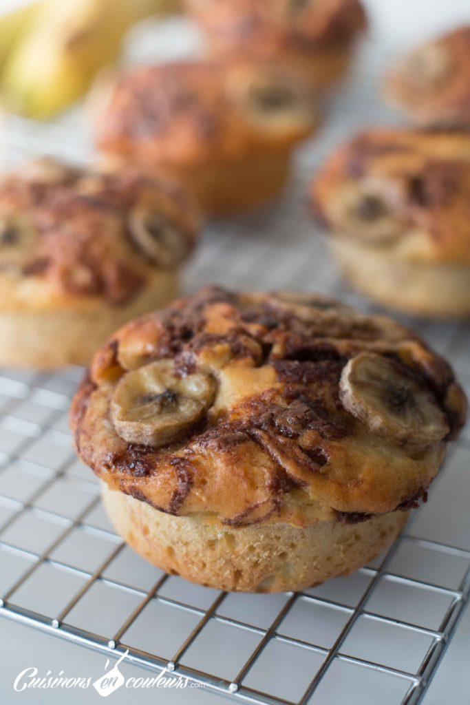 Muffins-choco-bananes-12-683x1024 - Muffins à la banane et à la pâte à tartiner noisettes