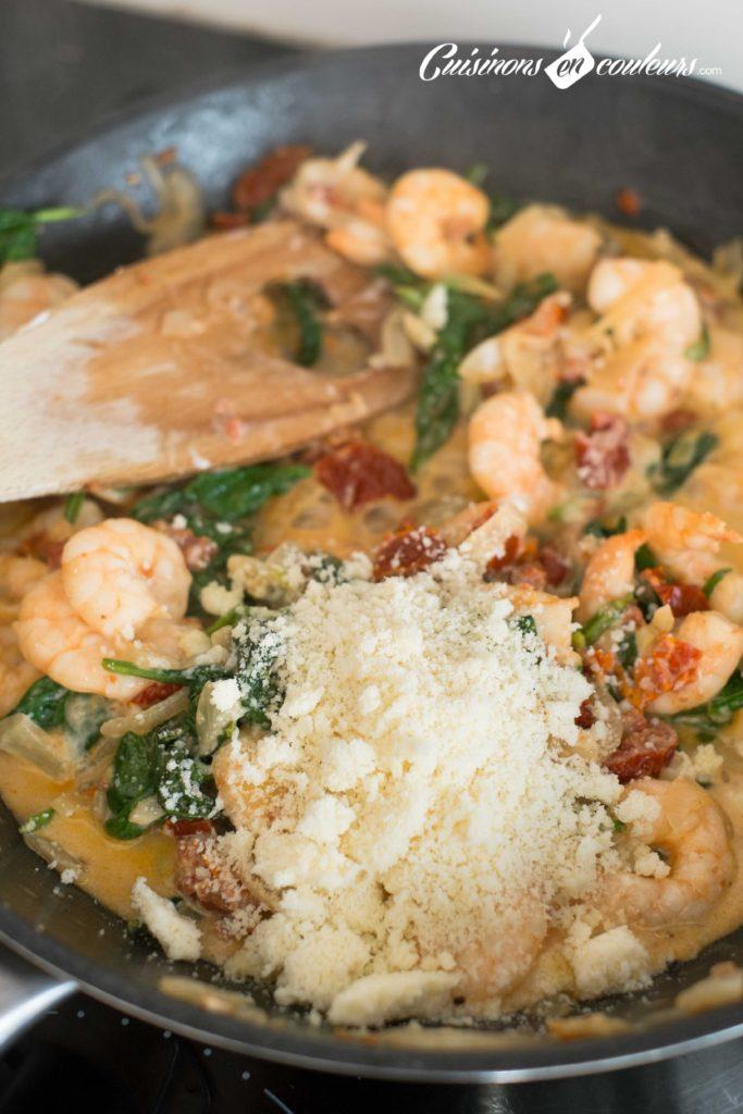 Crevettes-et-tomates-sechees-9-683x1024 - Crevettes aux tomates séchées et aux épinards