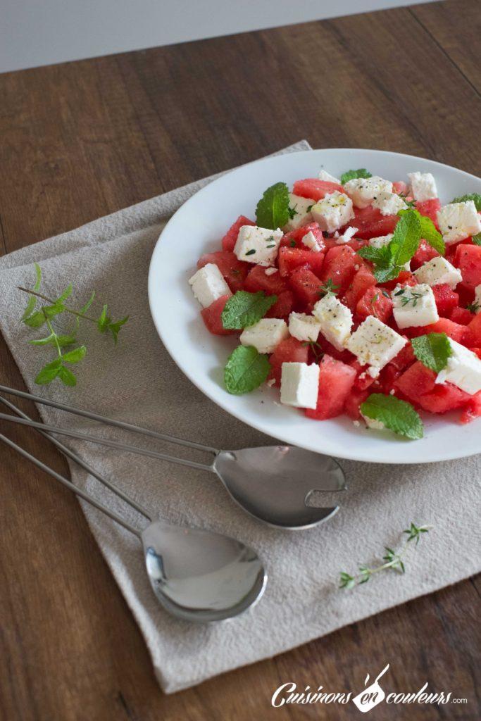 Salade-pasteque-6-683x1024 - Salade de pastèque à la feta
