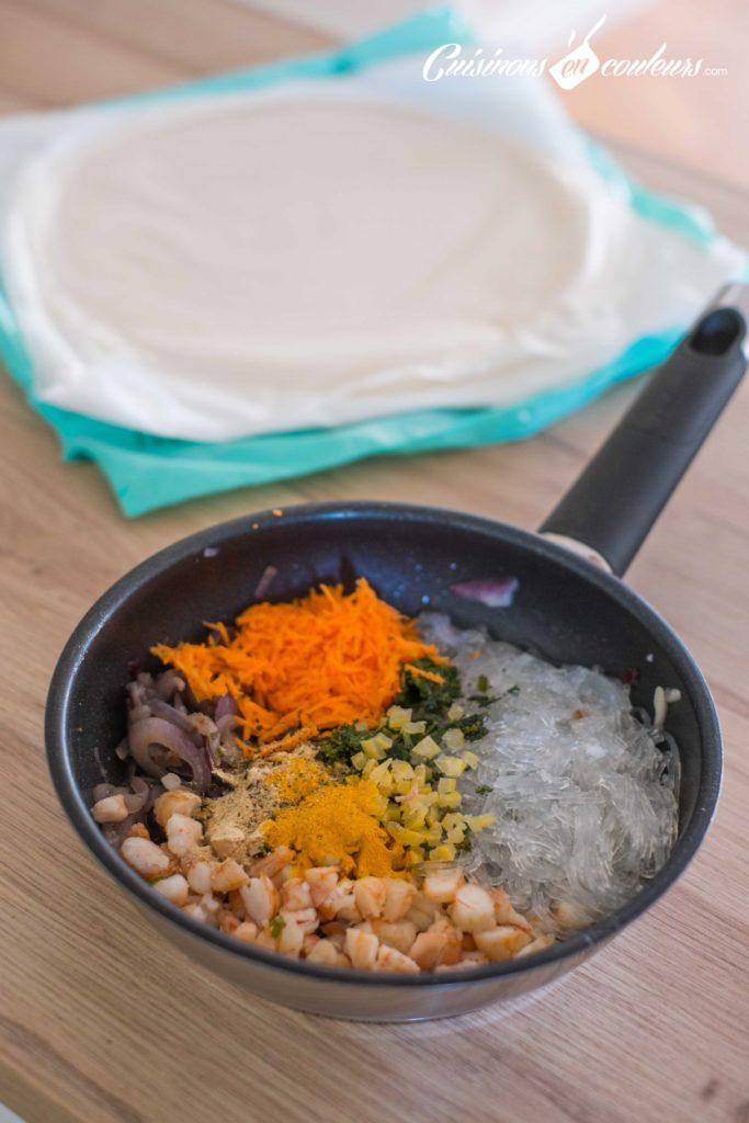 briouates-citron-confit-crevettes-3-683x1024 - Briouates aux crevettes et à la vermicelle de Chine