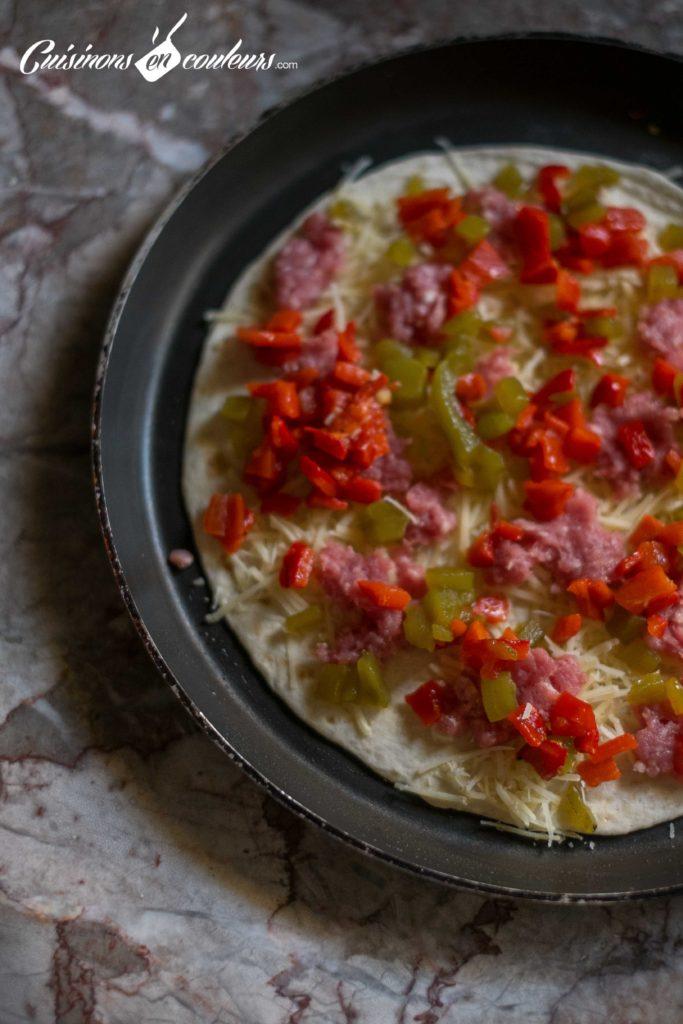 quesadillas-3-683x1024 - Quesadillas à la viande hachée et aux poivrons