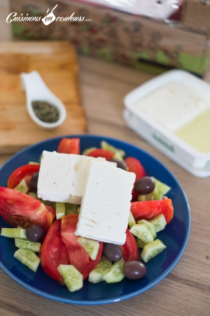 Salade-grecque-4-683x1024 - Salade grecque à la feta