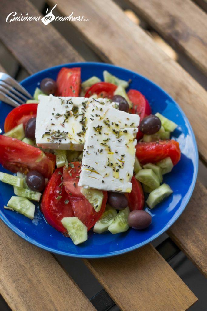 Salade-grecque-6-683x1024 - Salade grecque à la feta